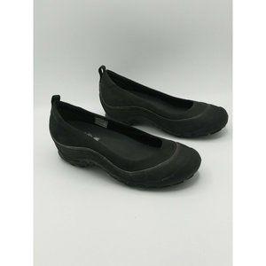 Merrell Plaza Ballet Shoes Black Leather